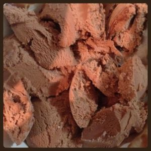 Day88: I have a bit of a sore throat, but I also have chocolate ice cream, so it's all good #100happydays - yummy yum yummo.